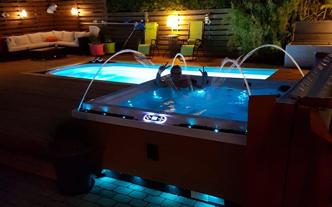 Ny pool och spabad för visning